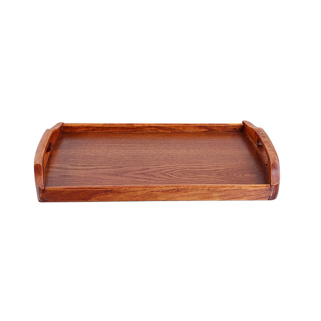US $16 8 35% OFF|European style Solid Wooden Pallet Tray Rectangular For  Home/Hotel Serving Plate With Handle Free Shipping-in Storage Trays from  Home