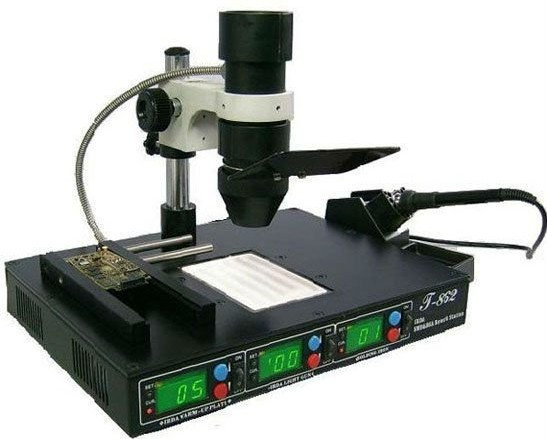 KADA 862d++ 4 in 1 BGA rework station full auto IRDA Infrared soldering station,free tax to Russia puhui t862 irda infrared bga rework station bga smd desoldering rework station free tax to eu