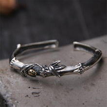 Fashion Popular Classic Jewelry Accessories 925 Sterling Silver Bamboo Shaped Woman Bangle Bracelet DropShipping 11mm 24.40G