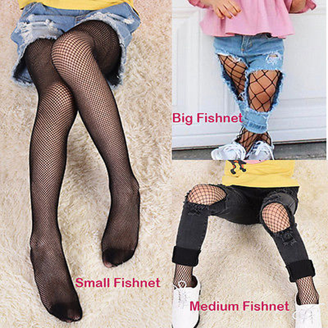 7d7906f2a7905 Kids Baby Girls Black Tights S M L Size Mesh Fishnet Pantyhose Stockings