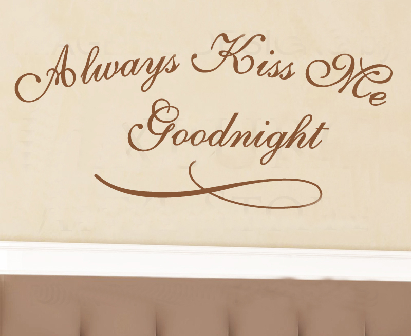 Always Kiss Me Goodnight Wall Art popular always kiss me goodnight wall large-buy cheap always kiss