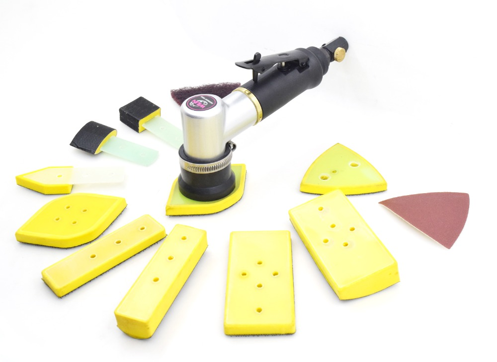 Pneumatic Air Tools Palm Random Orbital Line Groove Corner Sander Cambered Surface Polisher Different shape Models Multifunction air random orbital palm sander pneumatic tools polisher buffing 6 150mm auto sander pneumatic orbital polisher schuurmachine