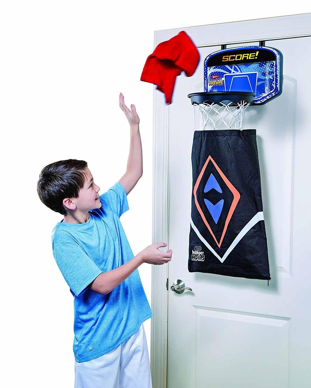 Баскетбольный щит обруч и корзина со съемным сумка для грязного белья для детей Дети 2в1 над дверью корзины обручи