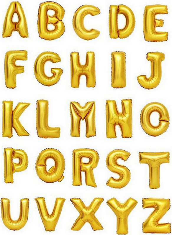 16 inch Golden Letter A to Z Alphabet Foil Balloons Letter Birthday Party Thanksgiving Wedding Decoration event & party supplies ...