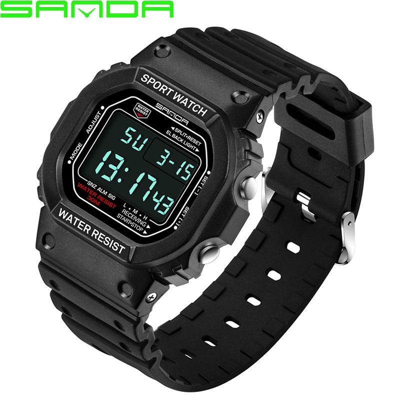 Prix pour Hommes sanda de led numérique montre hommes 2017 militaire sport poignet montres célèbre top marque de luxe homme horloge relogio masculino hodinky
