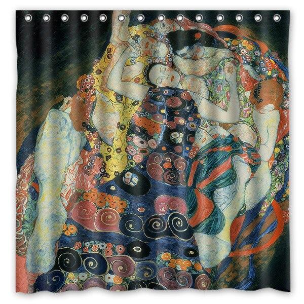 Novelty Bathroom ProductsGustav Klimt Painting Printed Waterproof Polyester Shower Curtain Bath 180X180CM