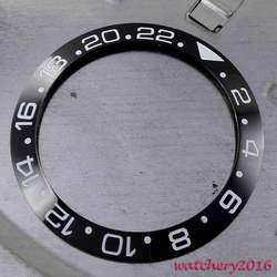 38 мм черный керамический ободок вставка часы комплект подходит Автоматический ход Мужские t мужские Часы Ободок