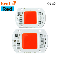 ECO Cat LED Bulb 20W 30W 50W 220V 240V Red LED COB Chip Smart IC Driver Fit For DIY LED Spotlight Floodlight LED lamp