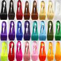 HSIU 100Cm Long Staight Cosplay Wig Heat Resistant Synthetic Hair Anime Party wigs 26 color Colourful
