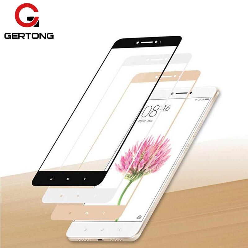 GerTong Full Cover Tempered Glass For Xiaomi Mi6 Mi5 Mi For Xiaomi Redmi 6 Pro 6A 5 Plus 4A 4X Note 4X 6 5 Pro Screen Protector