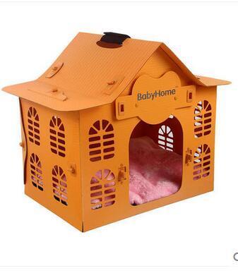 hot sale Colorful good quality animal pet bed dog house fabric plastic dog house/wood