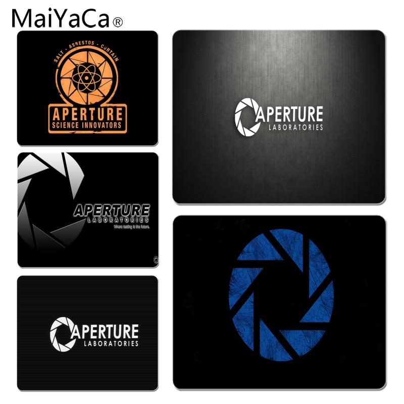 MaiYaCa New Design Aperture Laboratorles Portal gamer play mats Mousepad Size for 18x22cm 25x29cm Rubber Mousemats