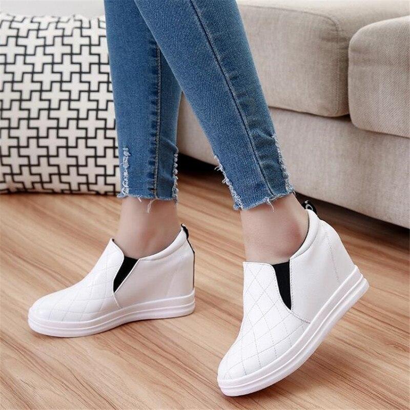Fashion Casual Shoes Hidden Heel Slip