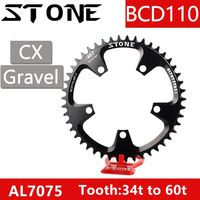 Stone Chainring for sram rotor force red rival Round 110 BCD s350 s900 36 38 40 42 46 48 58 60T Tooth MTB Road Bike Chainwheel