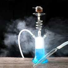 LED SPIRAL GLASS HOOKAH SHISHA WITH LIGHT AND REMOTE CONTROL CLEAN EPE FOAM PACKAGE  RUSSIA USA FRANCE