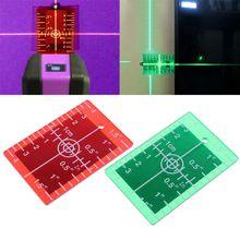 Лазерная цель панель с карточками дюйм/см для зеленый и красный лазерный уровень пластина с мишенью