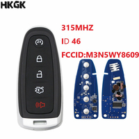 5 Button Remote Smart Prox Key Transmitter Car Key 315Mhz ID46 Chip for Ford C max Edge Explorer Expedition Escape Focus Flex