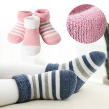 Soft Cotton Socks 0-3Y Unisex Lovely Cute Warm Winter Baby Seamless for boys kids girls Newborn Autumn Children Floor Sock