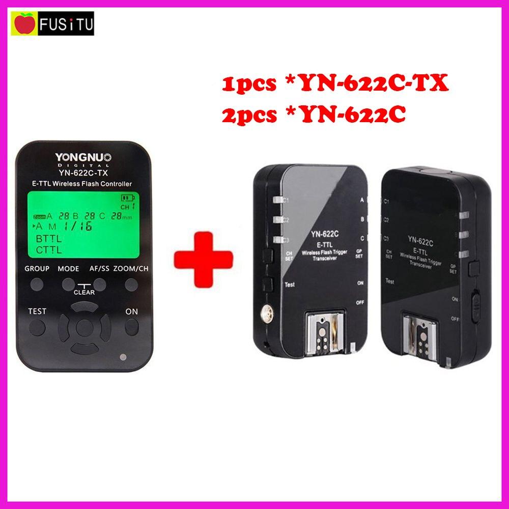 Yongnuo YN-622C-TX + YN-622C RX E-TTL LCD Wireless Flash Controller Wireless Flash Trigger Transceiver For Canon EOS DSLR yongnuo yne3 rx