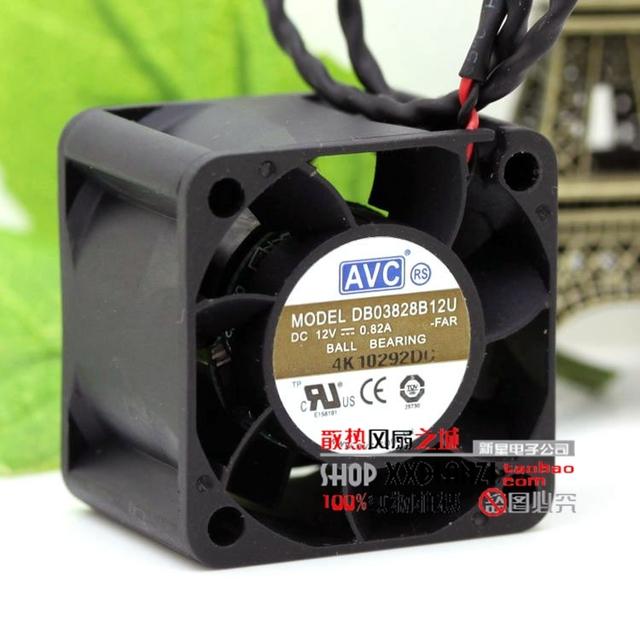 DB03828B12U 3828 38mm 0.82A 12 V bola ventilador de refrigeração ventilador