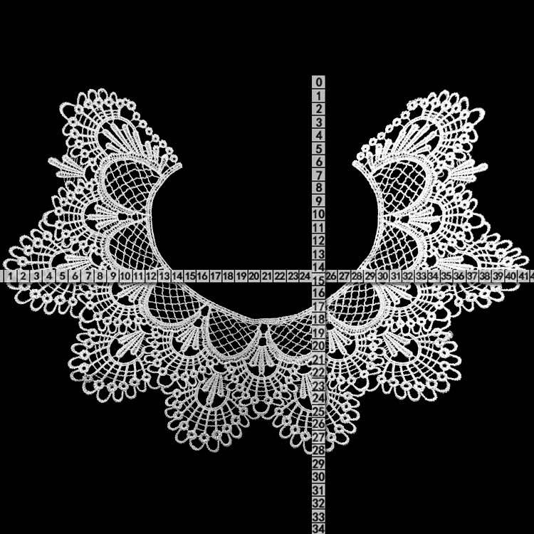 HTB1auJ5d81D3KVjSZFyq6zuFpXaq 30 Style High Quality White Lace Fabic Embroidered Applique Neckline for Lace Fabric Sewing Supplies Scrapbooking 45*27cm