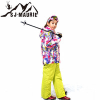 Snowboarding Jackets Children Ski Suit Winter Waterproof Kids Ski Jacket+Pants Outdoor Warm Snowboard Sports Suits Set for Girls