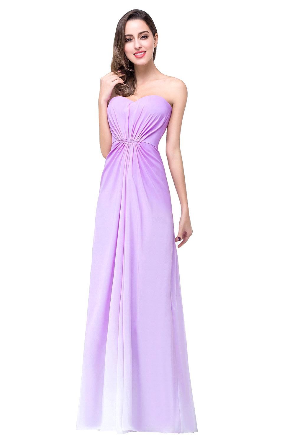 Online get cheap gradient dress bridesmaid aliexpress fashion 2017 shortlong chiffon purple gradient bridesmaid dresses sweetheart empire waist wedding party dress ombrellifo Image collections