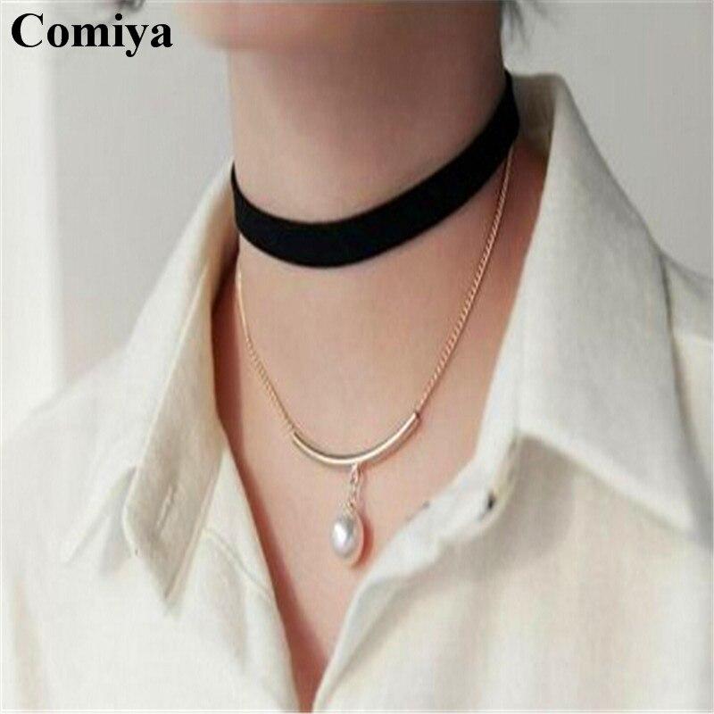 Bien-aimé collier ras de cou noir fille - Bijoux-Sonat.com VP33