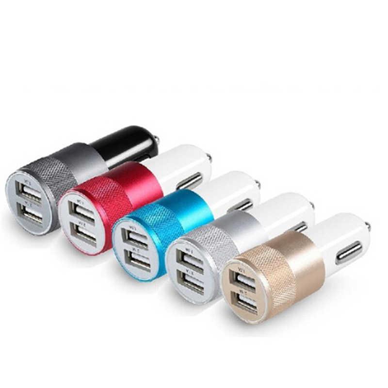 1 יחידות אוניברסלי DC 3.1A נייד מיני 2-יציאת USB מטען לרכב עבור טלפונים נייד