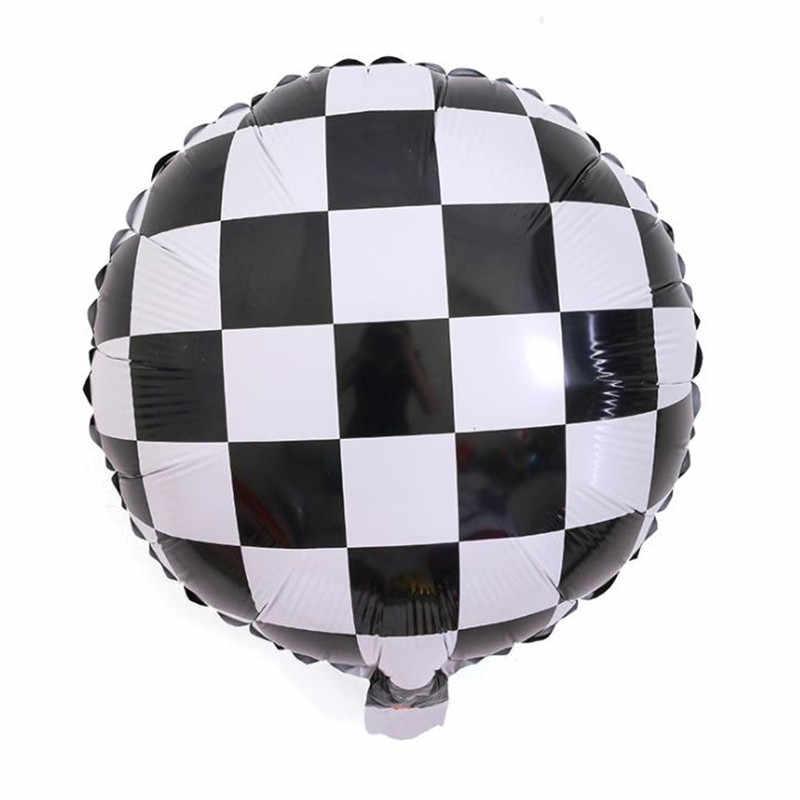 Свадебные украшения, воздушные шары из фольги, черно-белые решетки, гелиевые шары из фольги, Diy, детские украшения для дня рождения, вечеринки