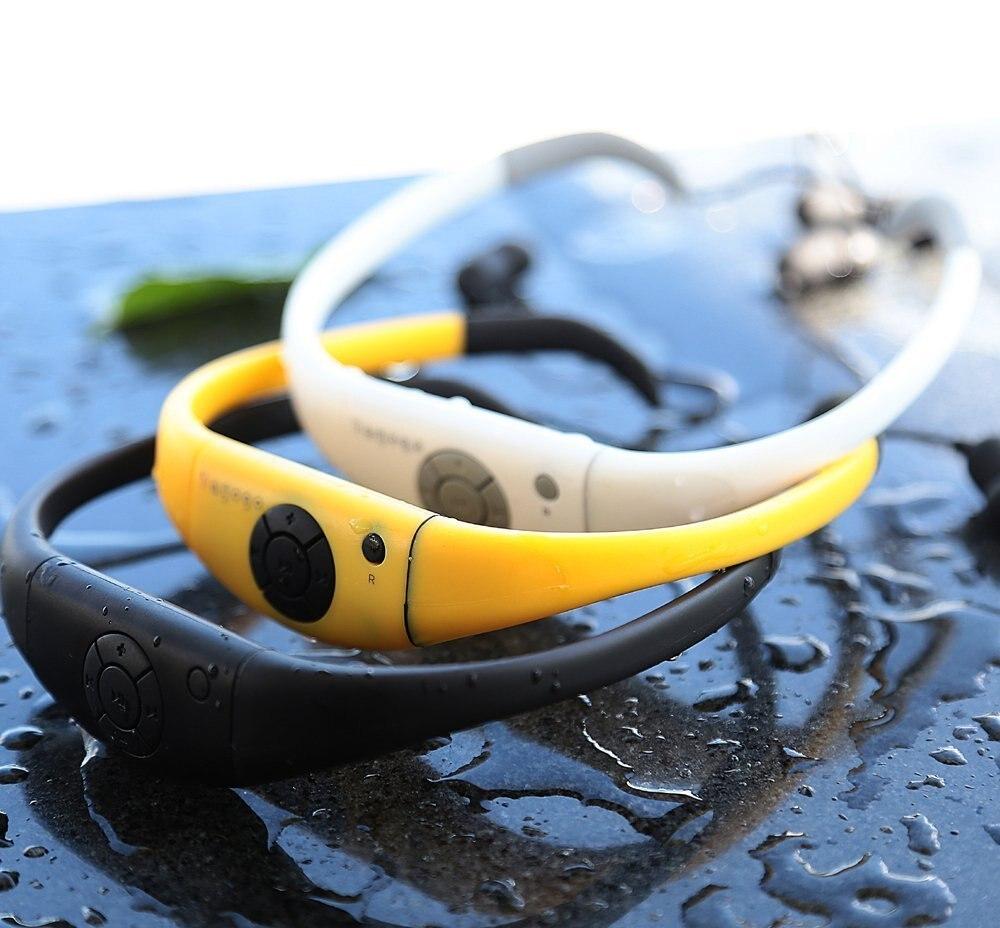 Tayogo étanche MP3 lecteur natation bluetooth casque sport IP68 bluetooth avec FM radio podomètre natation Mp3 écouteur