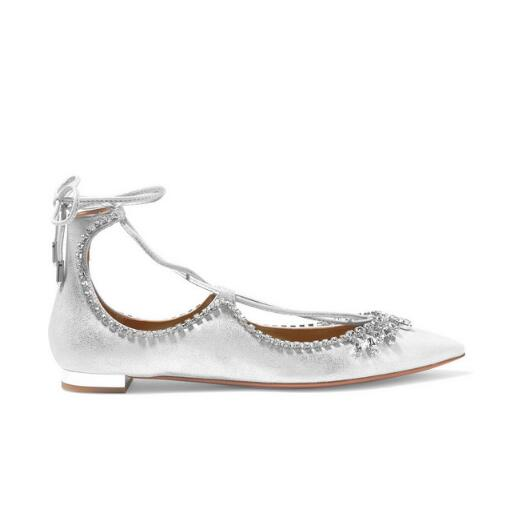 2016 Hot Summer Flats Sandals Rhinestone adorn Ankle Strap Woman Shoes  Fashion Pointed Toe Wedding Sandles 3bec66714852