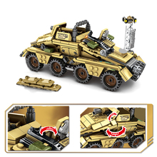 Military Germany Armored Vehicle Building Blocks WW2 Army truck Bricks Soldiers Figures Weapon Blocks Toys for Children Boys цена в Москве и Питере