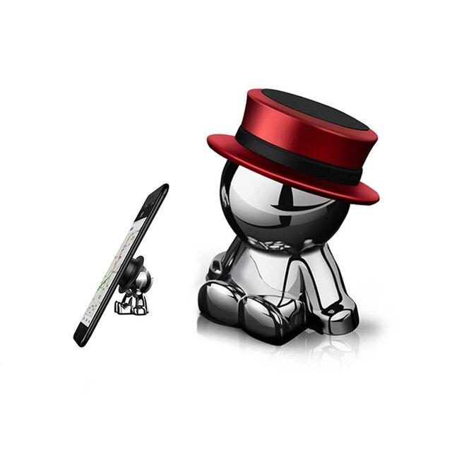 Novel Car Crafts Phone Holder Hat-men Mobile Phone Stand Multi-functional Creative Mobile Accessory DJ003