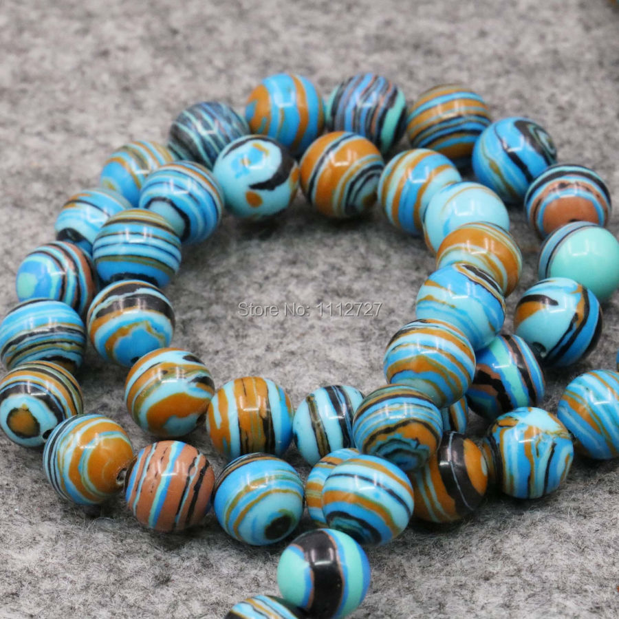 4 6 8 10 12mm Jewelry Blue Turkey Howlite Chalcedony DIY Loose Round Beads Howlite 15inch Semi Finished Stones Gifts Accessories