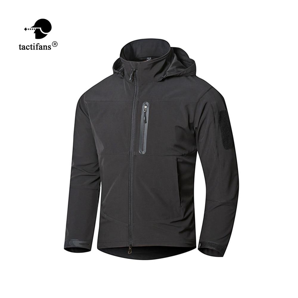 Tactifans Executive Men TAD Softshell Shark Skin Hiking Jackets Waterproof Windbreakers Man Military Tactical Hooded Jackets
