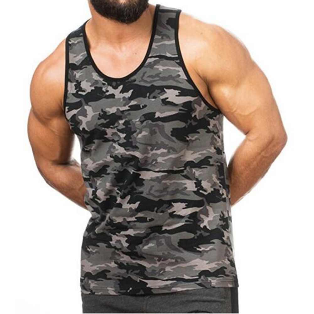 7da23d0b152a0 ... Men s clothing 2018 New Man s Sleeveless Camouflage Vest Breathe Quickly  Dry Tank Tops M-XXXL ...