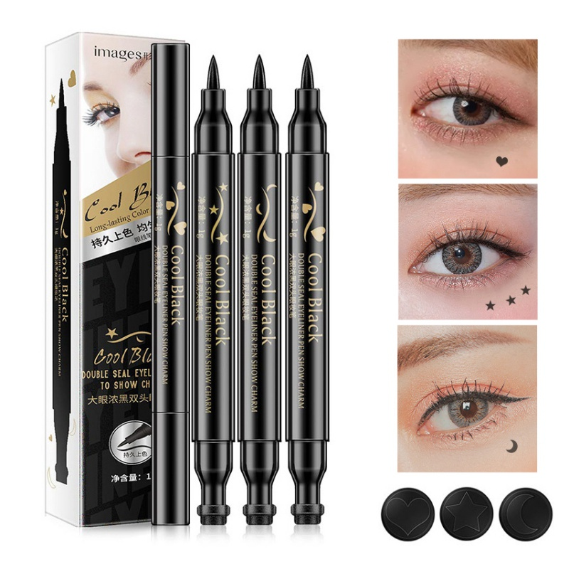Beauty Essentials Back To Search Resultsbeauty & Health Brand Waterproof Black Eyeliner Pen With Moon Heart Star Stamp Eyes Makeup Liquid Eye Liner Pencil Seal Long-lasting Cosmetics