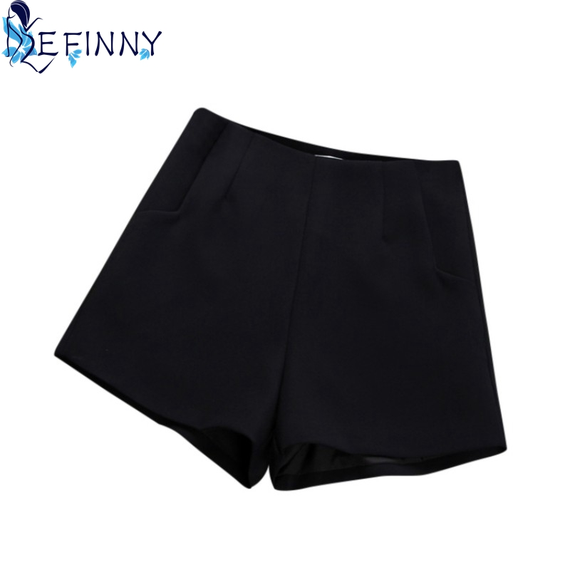 ZH New 2019 Summer Hot Fashion   Shorts   High Waist Casual Suit   Shorts   Black White Women   Short   Pants