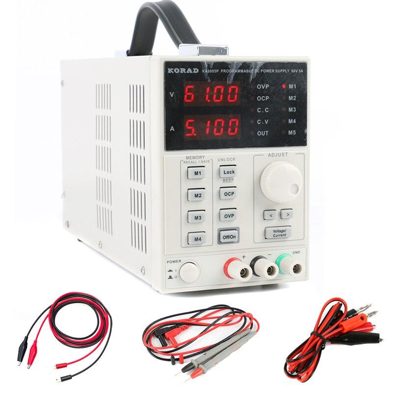 KA6005P Précision Réglable Programmable DC Alimentation 60 v 5A 0.01 v 0.001A Numérique À Faible Bruit USB RS232 Interface
