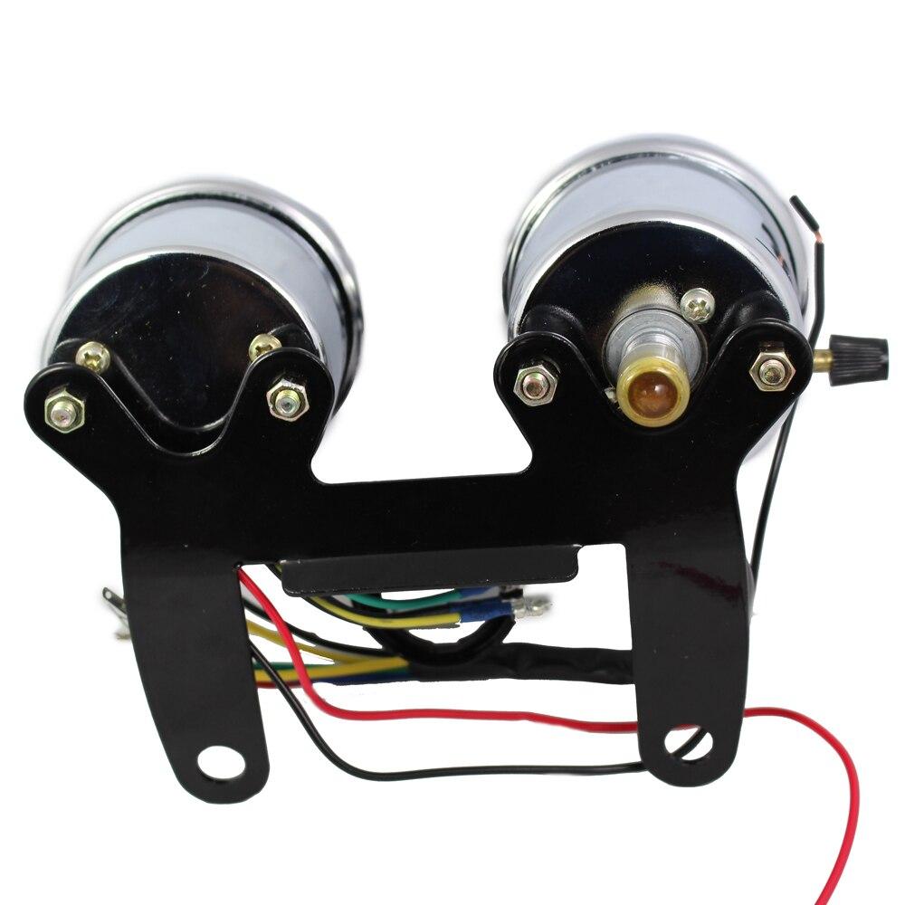 Chroomfiets snelheidsmeter toerenteller set 0 ~ 160km / h - Motoraccessoires en onderdelen - Foto 4