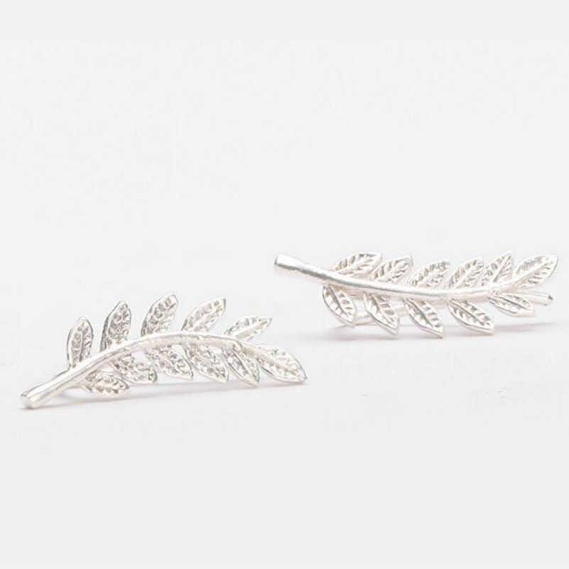 Shuangshuo Mới Cổ Điển Đồ Trang Sức Tinh Tế Hoa Tai Lông cho Phụ Nữ Đẹp Cây Đơn Giản Để Lại Bông Tai Ear clip brincos