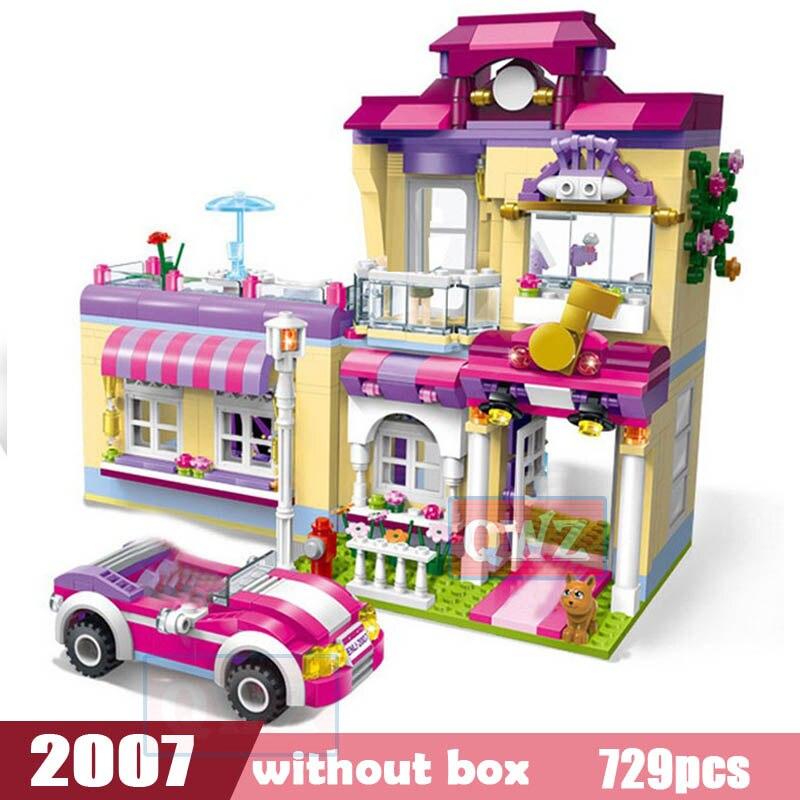 Legoes город девушка друзья большой сад вилла модель строительные блоки кирпич техника Playmobil игрушки для детей Подарки - Цвет: 2007 without box