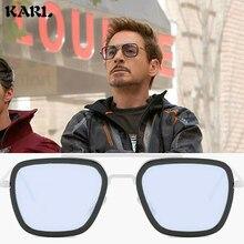 KARL Man Sunglasses Iron Glasses Women Gafas De Sol Hombre Mens Matrix Lentes Tony Stark