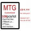 Personalizado 108 pcs Mágico Proxy MTG Reunião Cartão, Terrenos duplos, P9, o Leão Recomendar