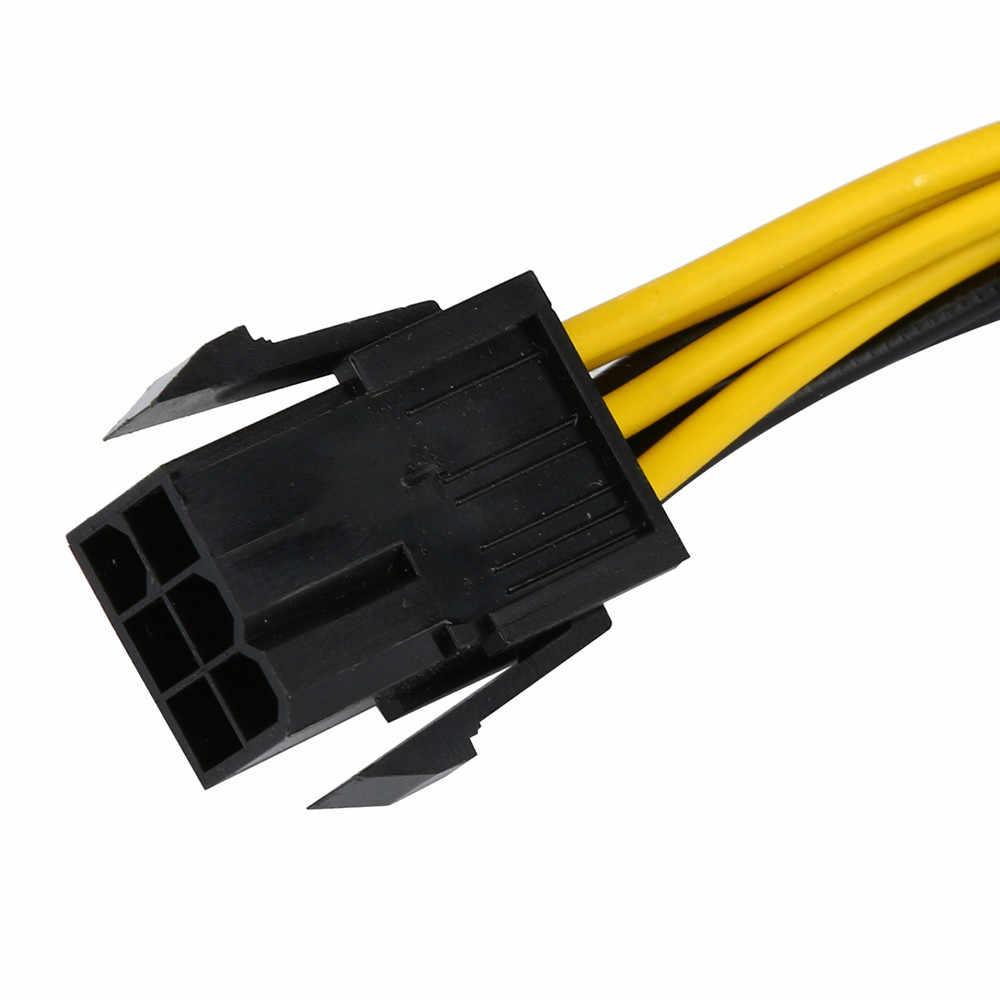 สายแปลงไฟ PCI-E 18 AWG 6 - pin ถึง 8 - pin PCI Express Converter สาย 18 ซม. สำหรับ GPU การ์ด PCIE PCI-E #3 $