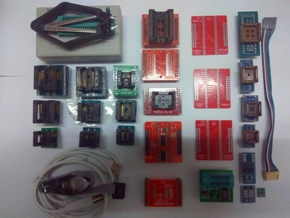 Free Shipping 100% original V8.05 TL866CS TL866A TL866II Plus Minipro PIC USB BIOS ECU Universal Programmer+25items+SOIC8 clip original minipro tl866a programmer tl866 universal mcu usb programmer ezp2013 rt809f v7 21 tl866ii plus better than tl866cs