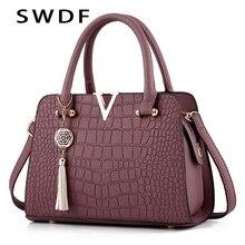 купить Fashion Alligator leather women handbags famous designer brand bags Luxury Ladies Hand Bags And Purses Messenger shoulder bags по цене 1228.37 рублей