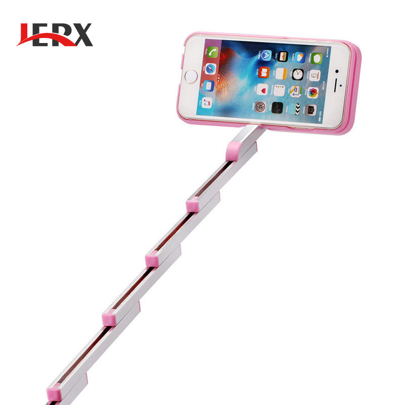 3 in 1 Selfie Stick Case for iPhone 6 6S plus Multifunction Foldable Extendable Aluminum Cover With Bluetooth Remote Shutter