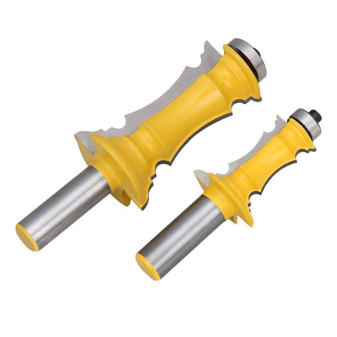 Woodworking Milling Cutter Router Bit Set 1/2 inch Shank Mitered Door & Drawer Panel Molding Router Bit Set(2Pcs) 3pcs set bit raised panel cabinet door router bit set 1 2 inch milling cutter for woodworking cutter cutting power tools